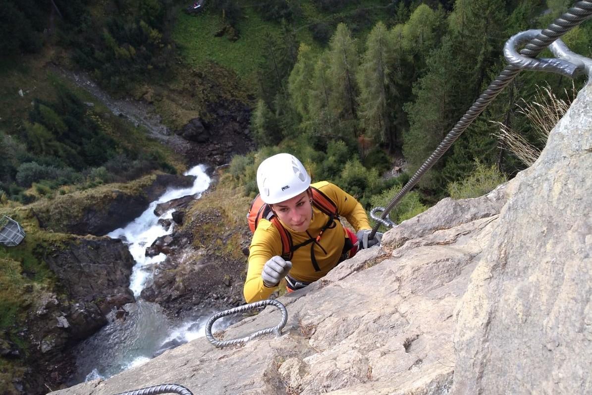 Jana Windhaber, Klettersteig