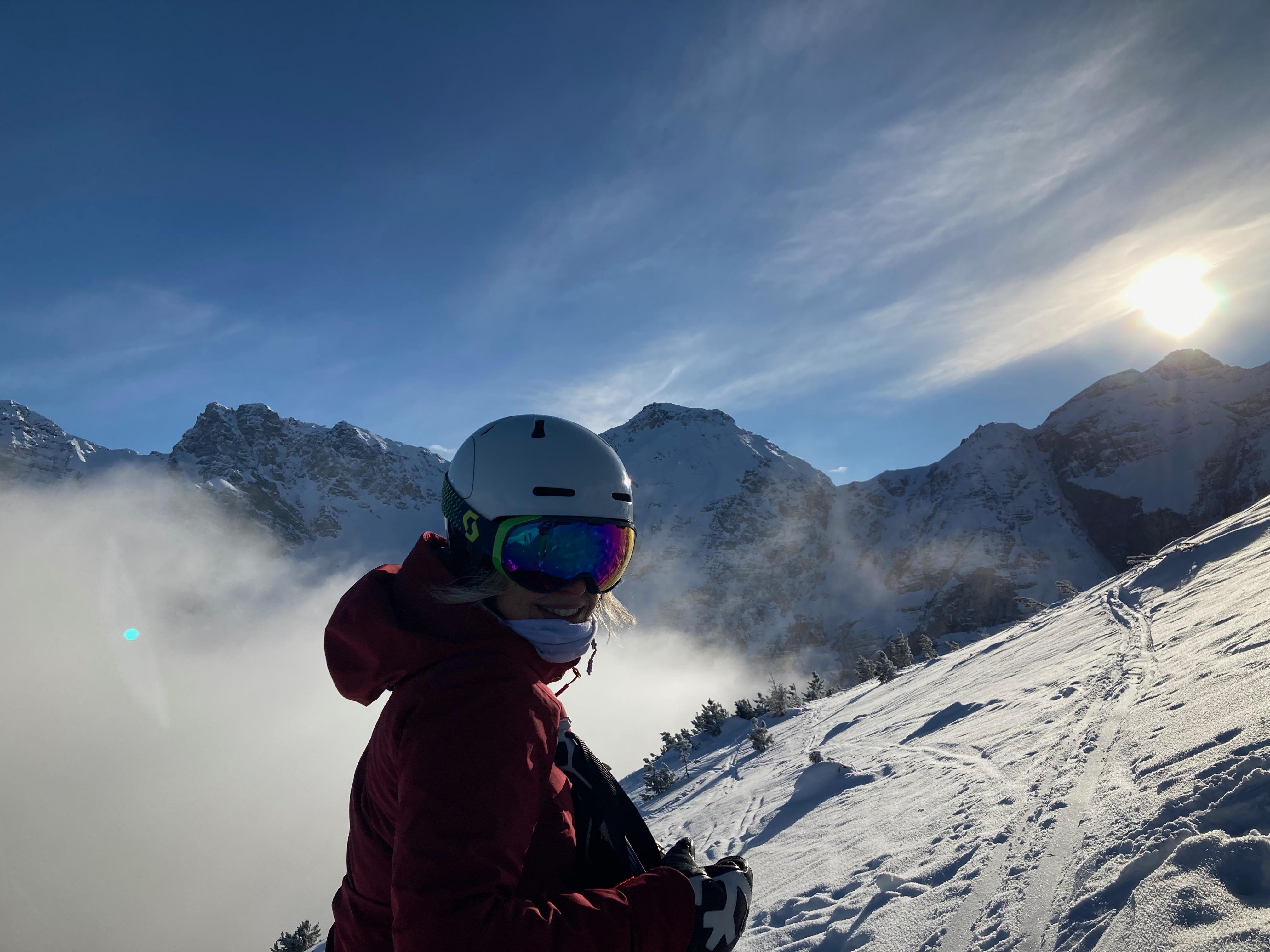 Corinna Lanthaler beim Skifahren