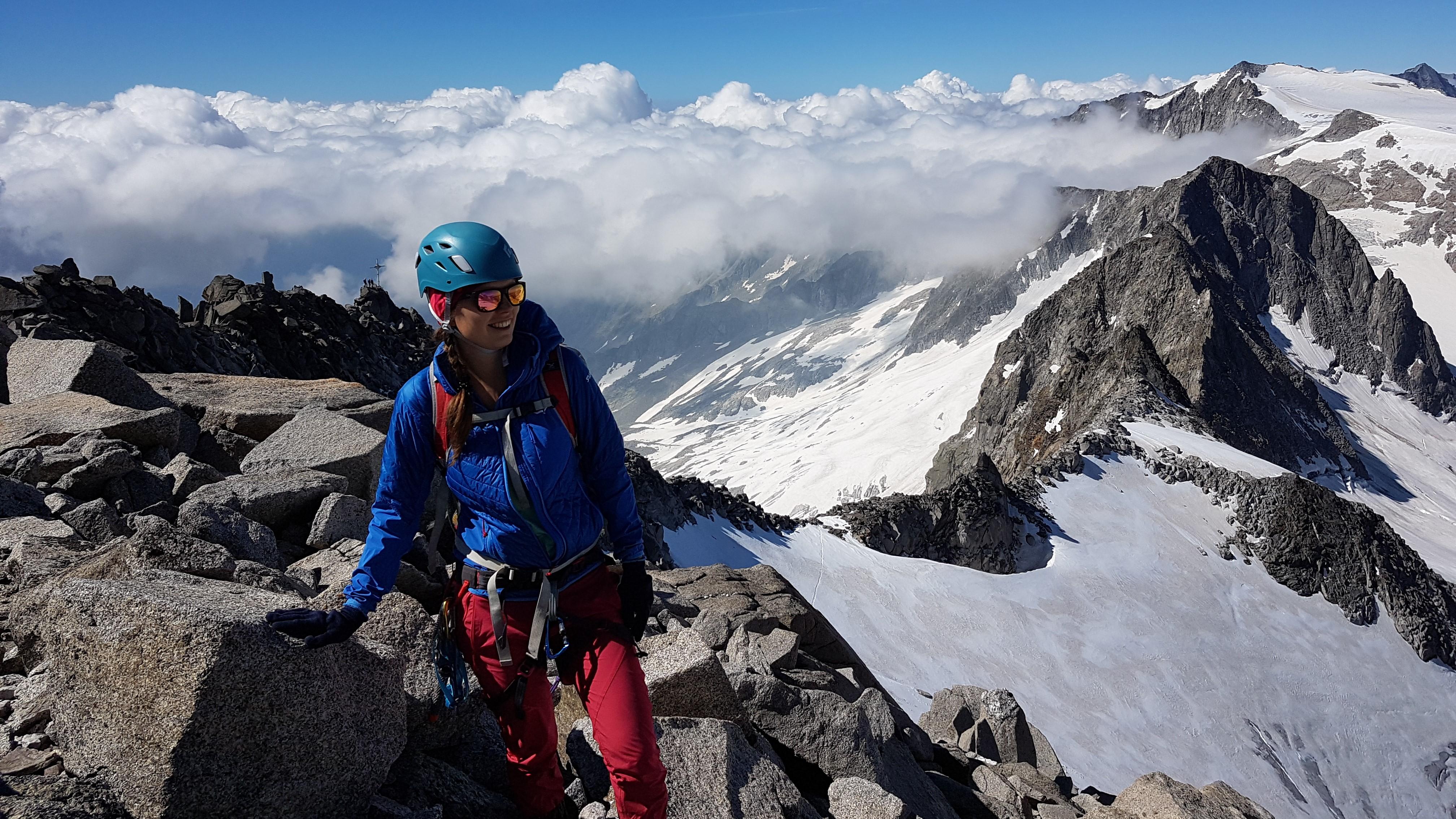 Andrea Hochmuth auf dem Hohen Löffler