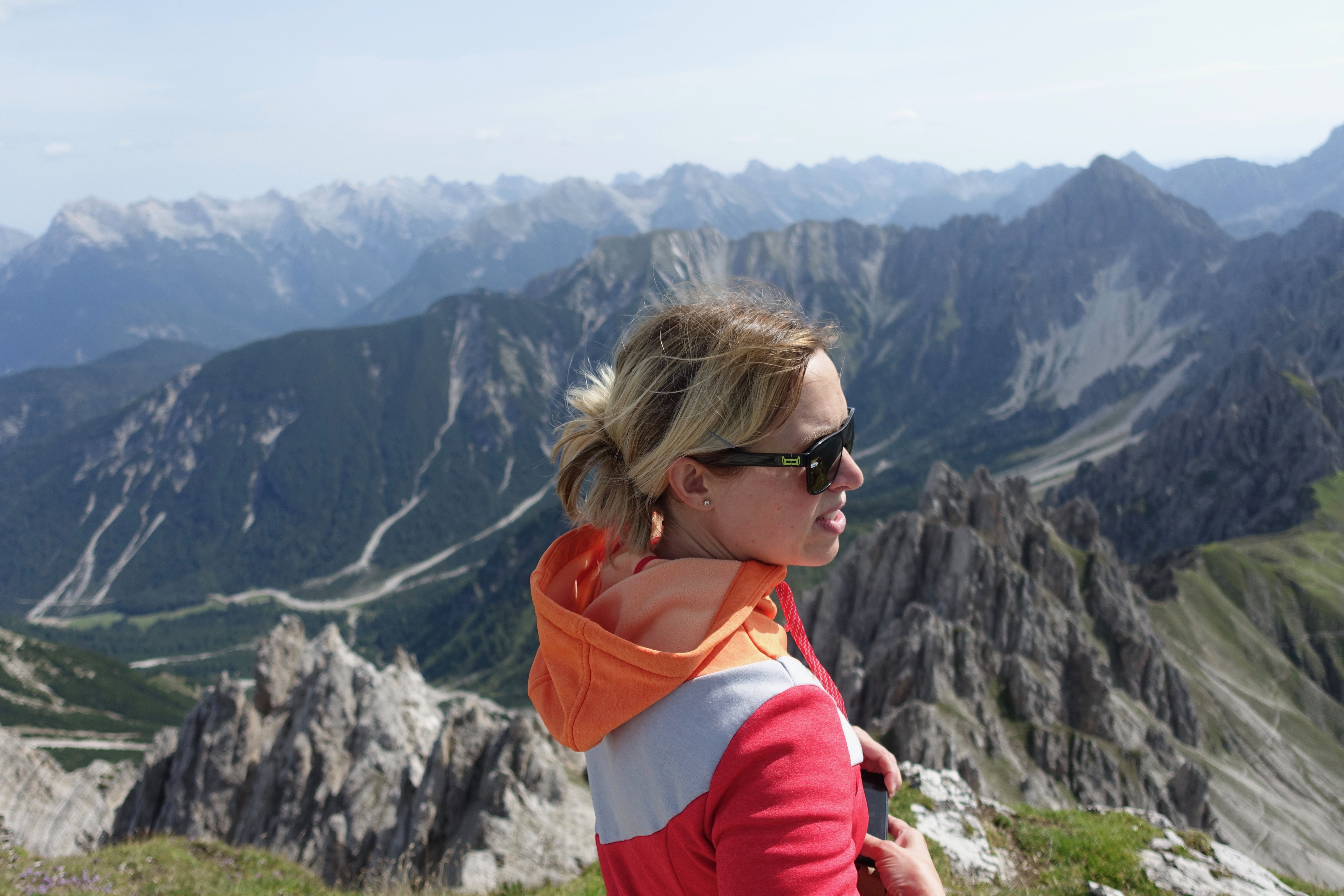Corinna Lanthaler unterwegs in den Bergen