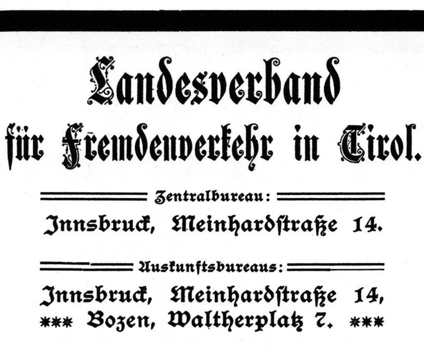 Änderung des Namens in Landesverband für Fremdenverkehr in Tirol