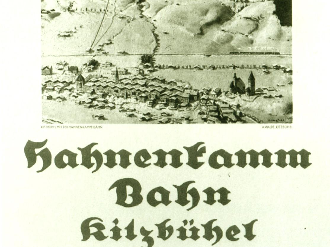 Altes Foto von der Hahnenkammbahn Kitzbühel