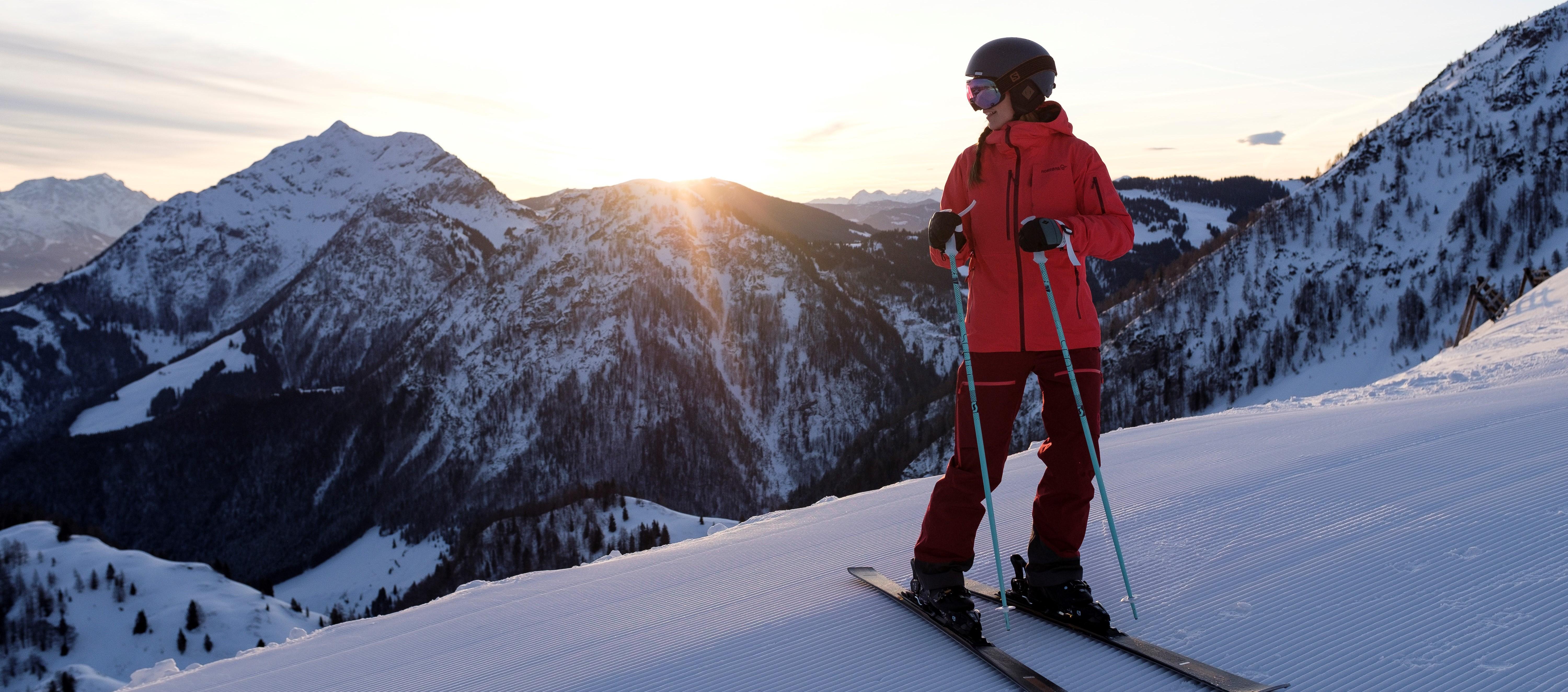 Andrea Hochmuth beim Skifahren