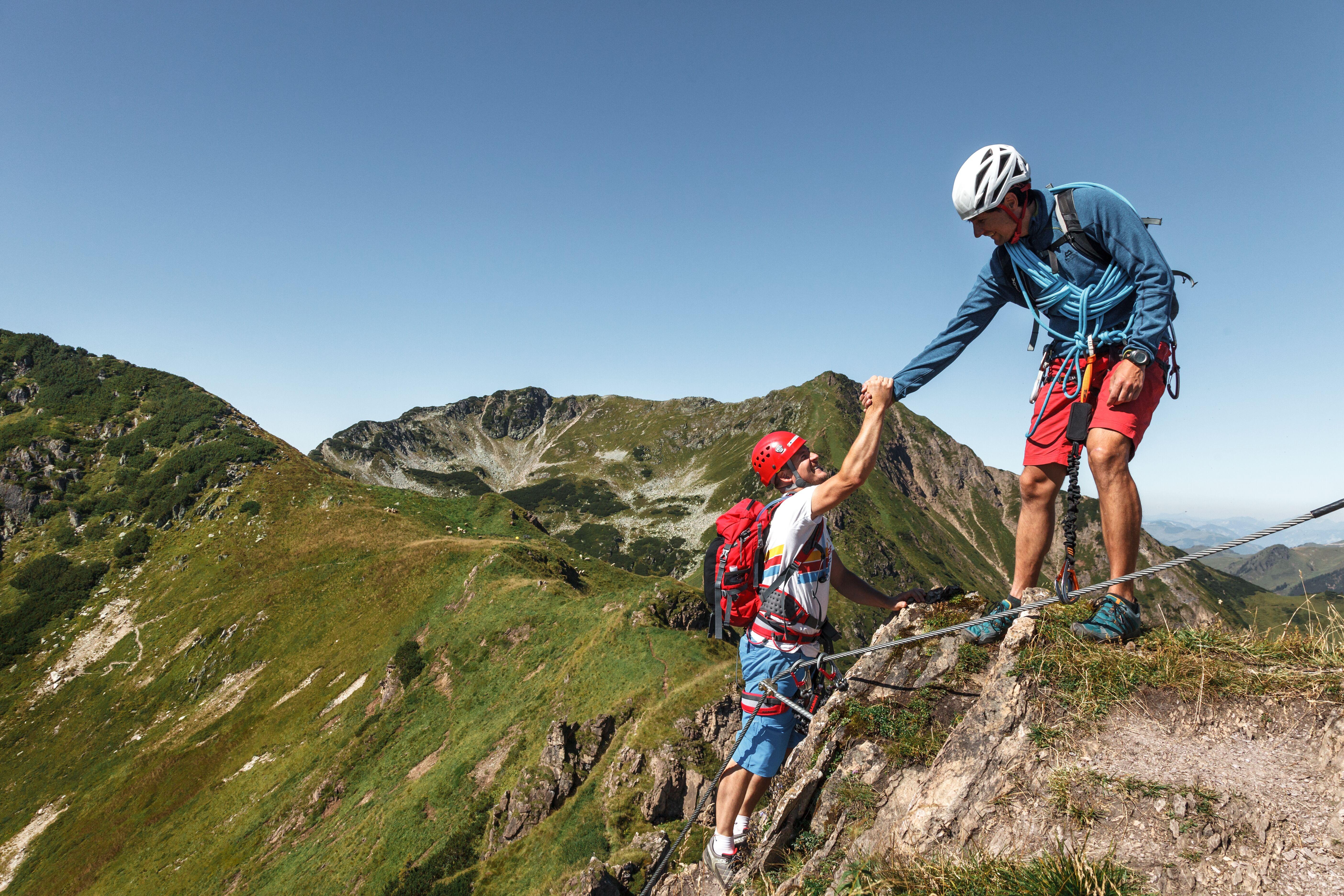 Klettersteig, Kletterer, Fieberbrunn