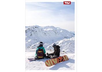 Poster Snowboarder St. Anton