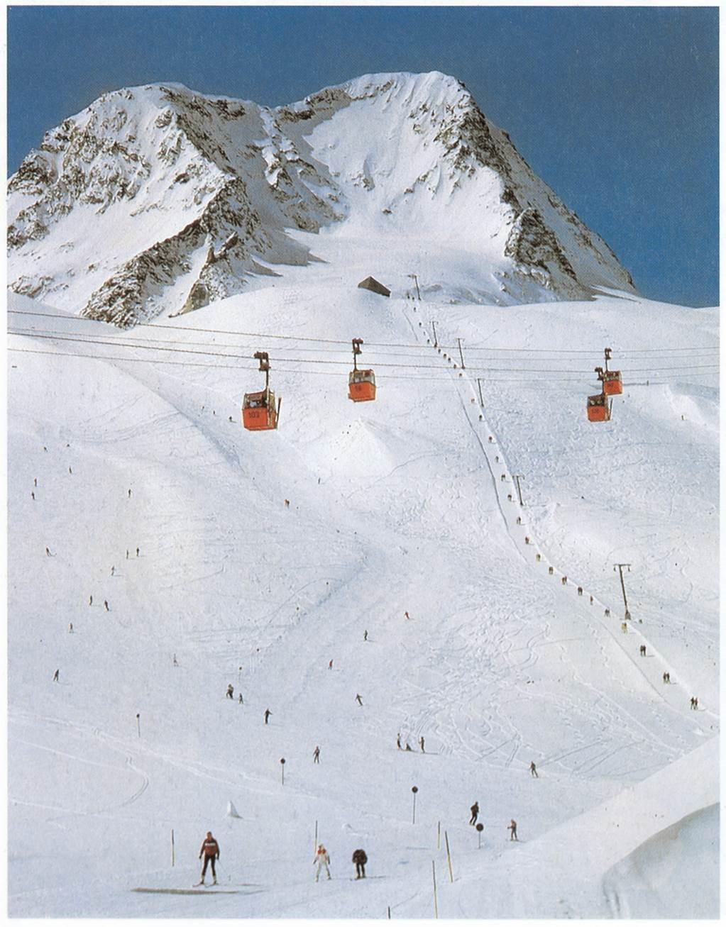 Foto vom Skifahren in den 80ern