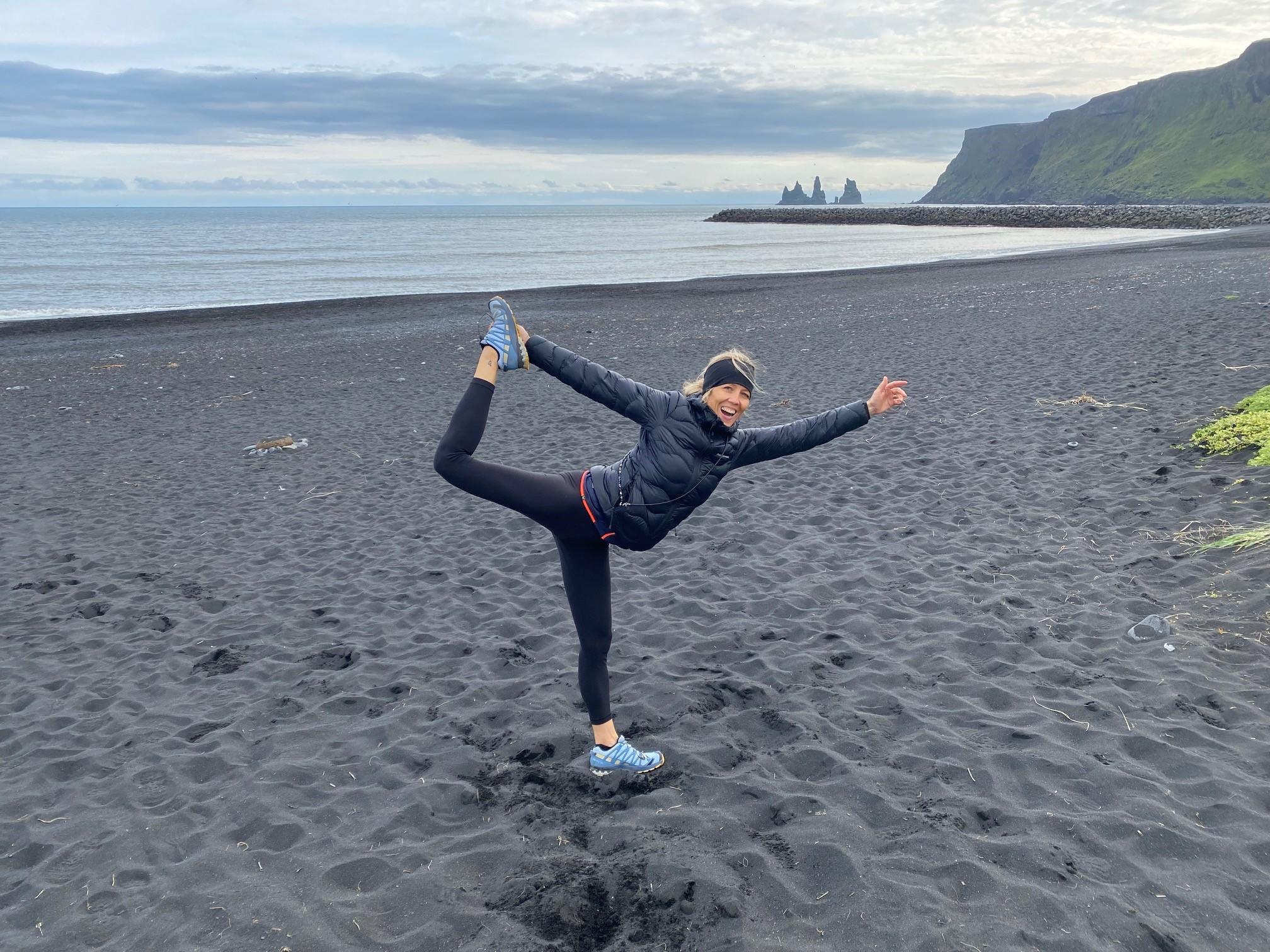 Fabienne Kröll Yoga am Strand