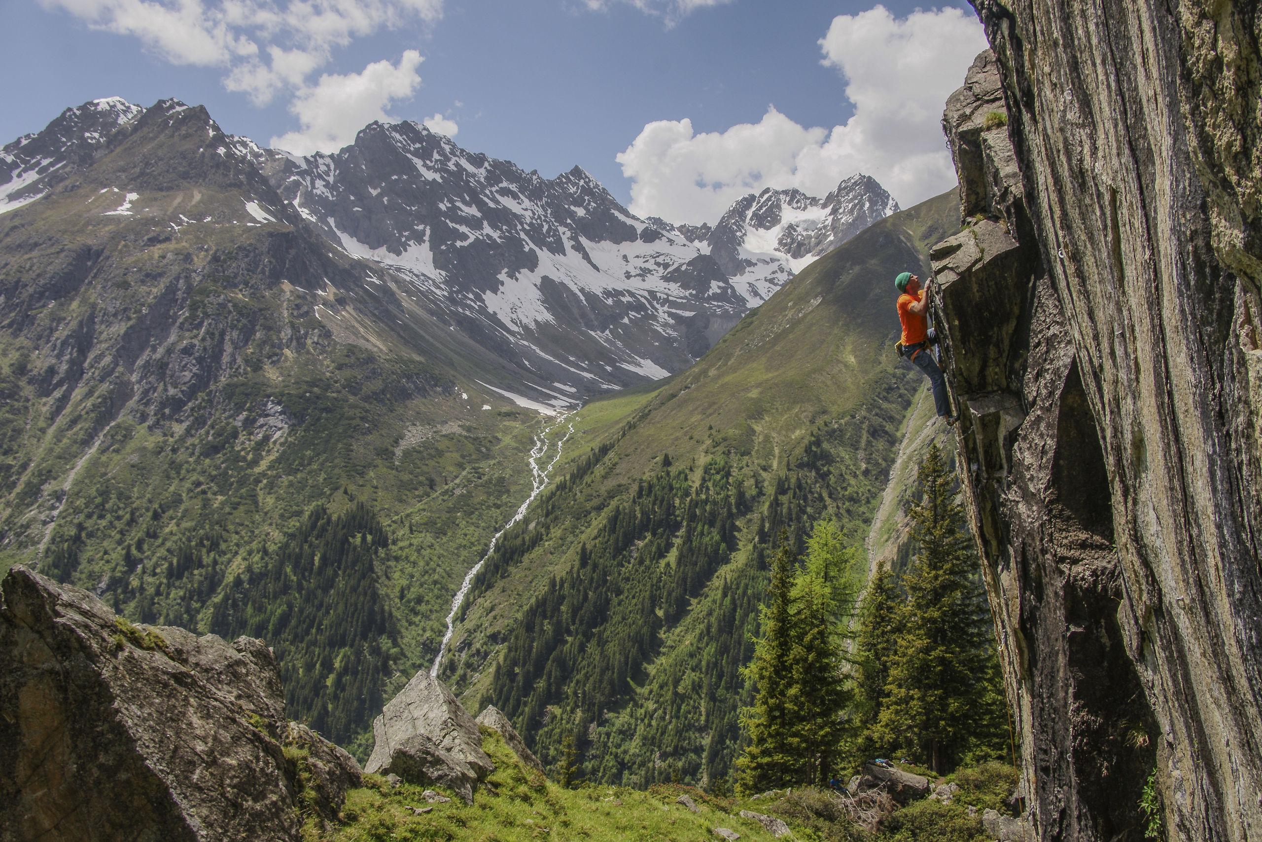 Kletterer, Berglandschaft