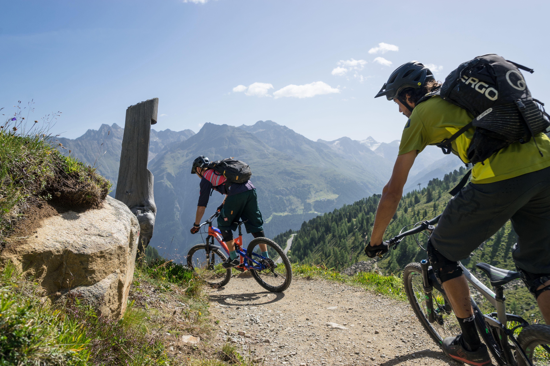 Mountainbiker, Trail