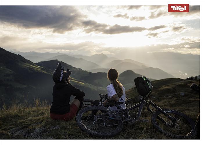 Poster Radfahrer am Wilden Kaiser
