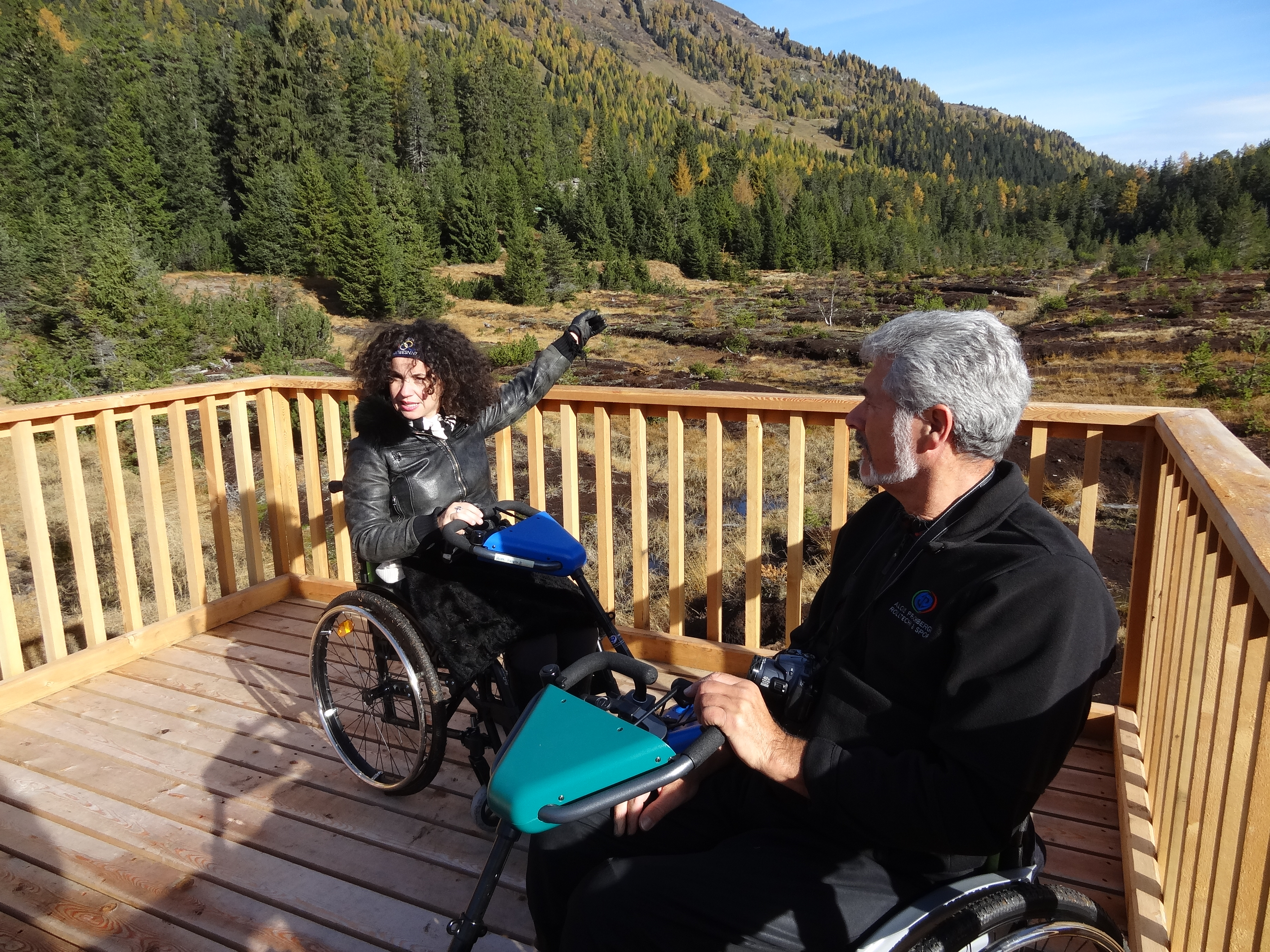 Rollstuhlfahrerin im Kaunertal